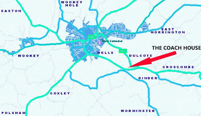 Wells Dulcote map Somerset